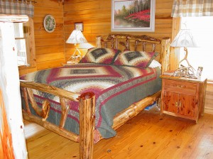 rustic custom log bed