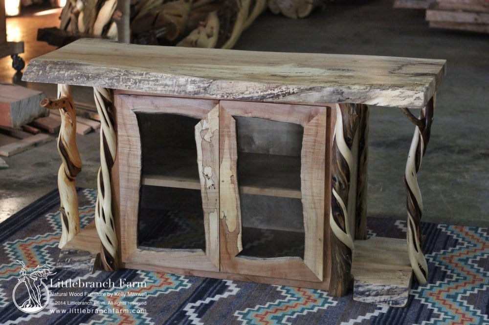 Rustic Entertainment Center - Juniper and Maple |Littlebranch Farm